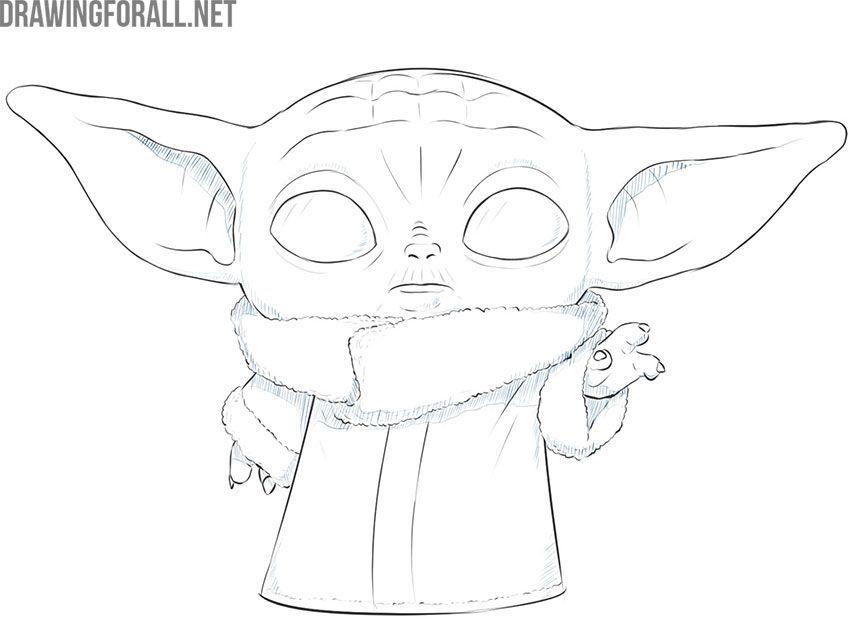 Wie Zeichnet Man Baby Yoda Das Kind In 2020 Yoda Drawing Yoda Art Baby Drawing