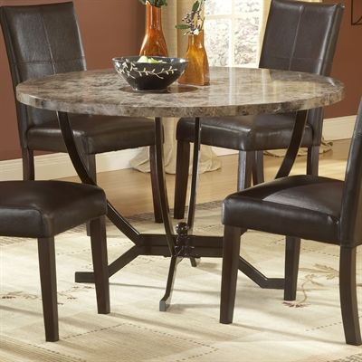 Hillsdale Furniture 4142dtb Monaco Round Dining Table Round