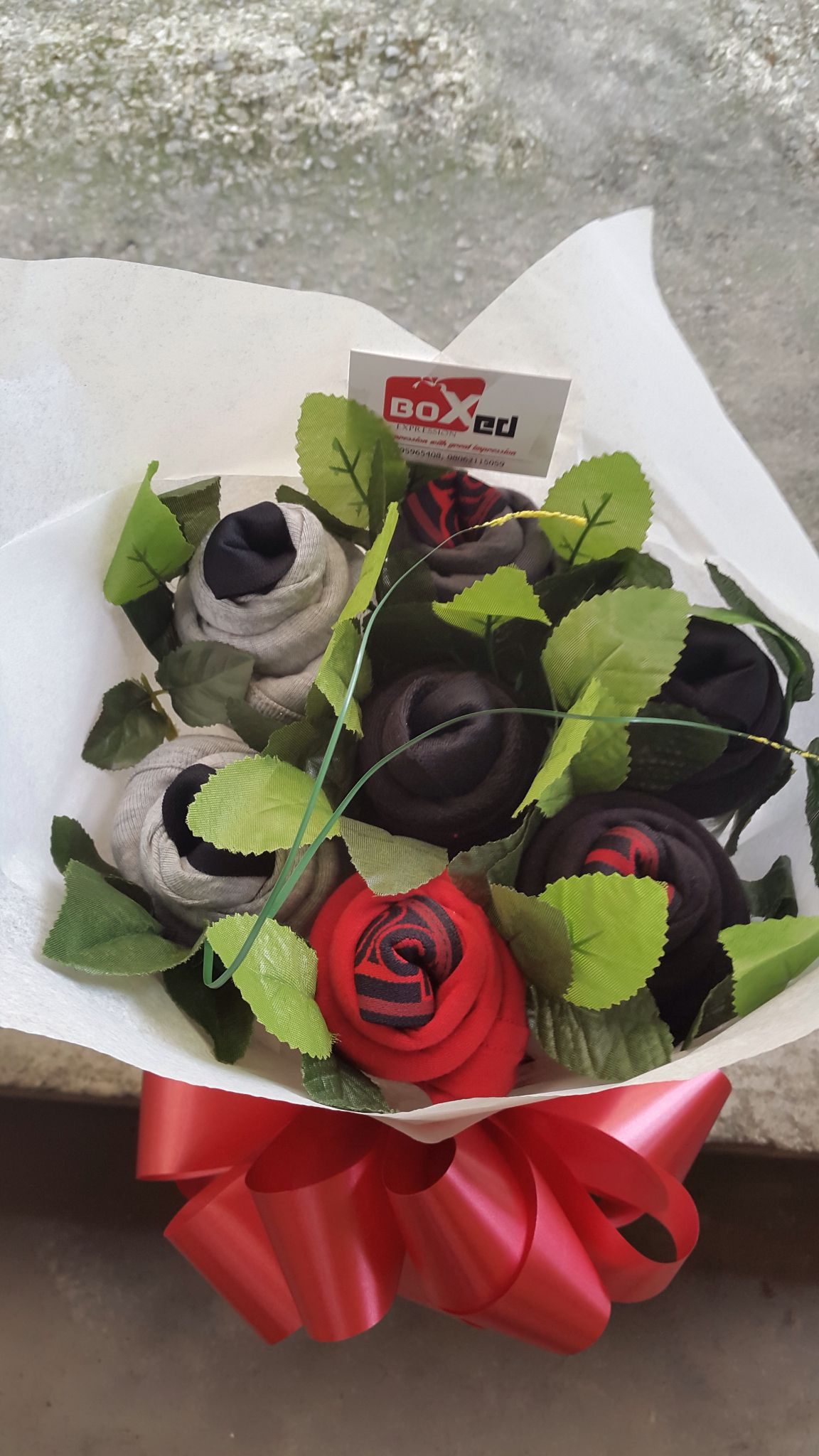 How to make a bouquet of socks with your own hands
