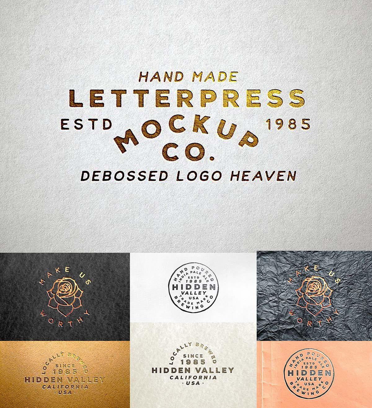 Letterpress Logo Mockup Letterpress, Mockup, Logo creation