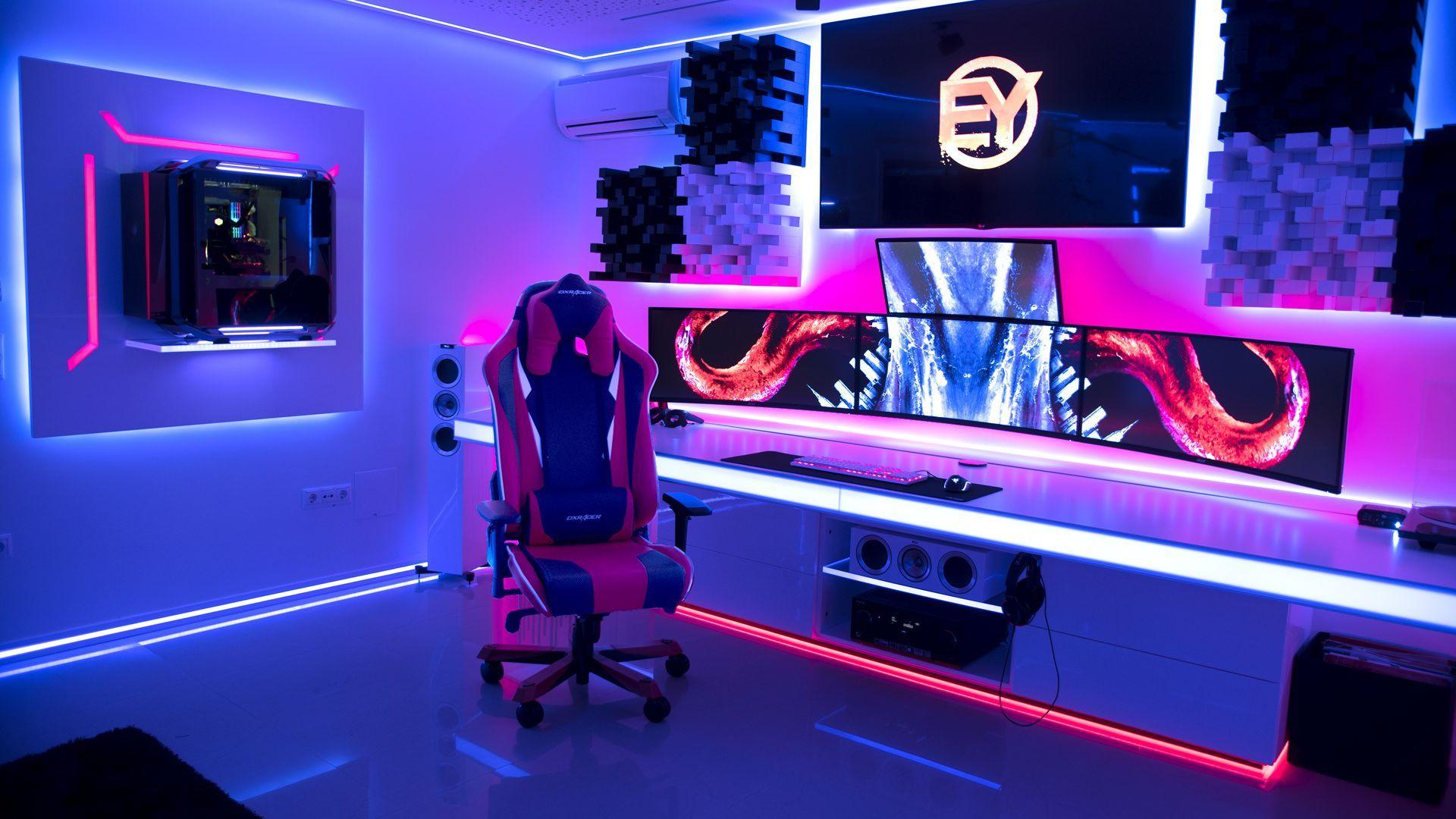 ULTIMATE Setup for 19  Salles de jeux vidéos, Chambre gaming