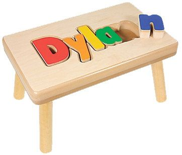 Name Puzzle Stool Wooden Puzzles Name Puzzle