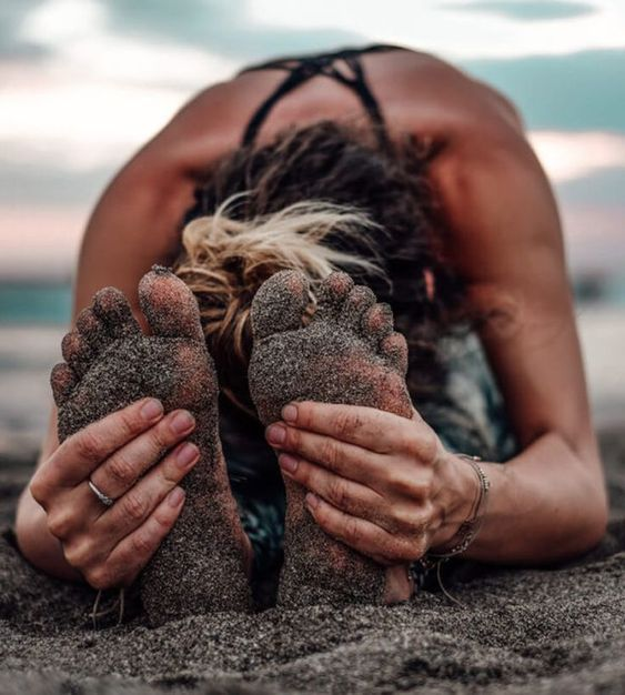 #beach #summer #yoga #practice #fitness #loseweight #flexibility #sandy #yogapose #asana #backpain