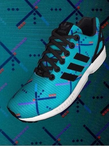 Portland Airport carpet shoe - #mizxflux app from adidas, put any photo on  the