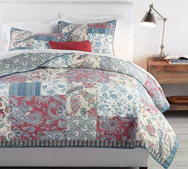 Fiorella Patchwork Cotton Quilt Amp Shams Quilted Sham