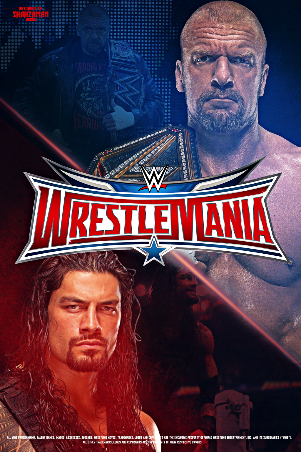 Wrestlemania 32 Poster Wwe Roman Reigns Wrestlemania Wrestlemania 32