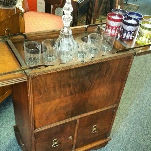 Vintage Pop Up Bar Mahogany Circa 1940 S Pop Up Bar Home Decor Furniture