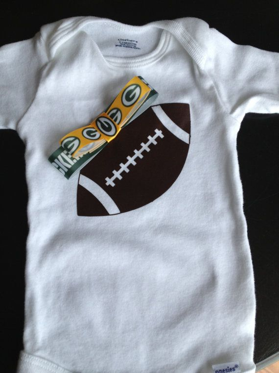 03a5e23a7 Children Clothes · Baby Names · Baby Girl Green Bay Packer Football Onesie  by SimplySamanthaLee
