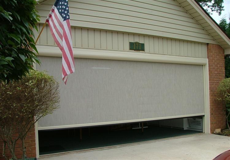 Phantom Executive Power Garage Door Screen W Privacy Screen Garage Doors Garage Screen Door Garage