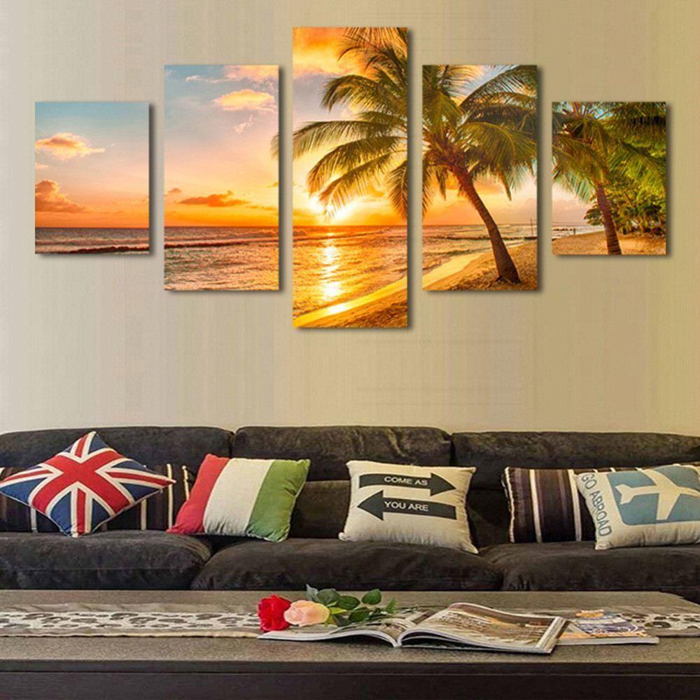 Best Sunset Seascape Inclued Coco Beach Modern H Wall Art Hd ...