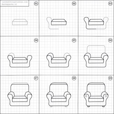 How To Draw A Comfy Chair