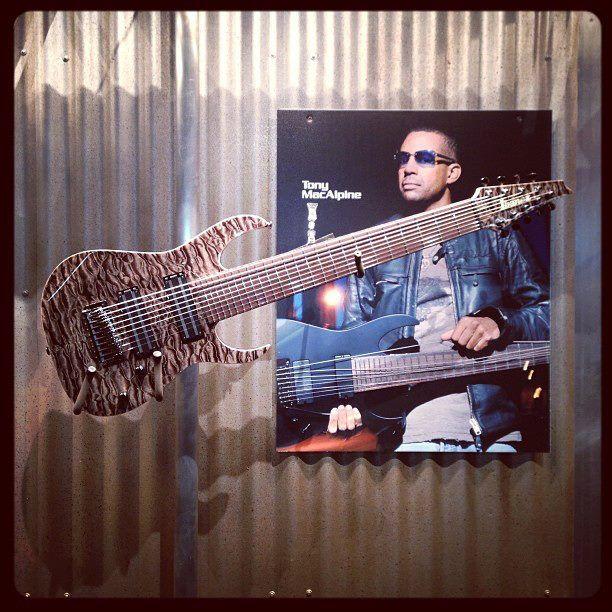 Ibanez Tony MacAlpine custom 9 string guitar at NAMM | Awesome ...