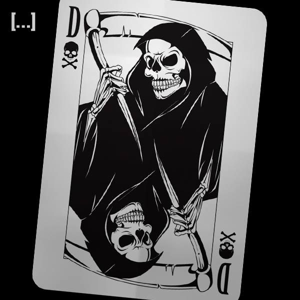 Dead Man's Hand - Grim Reaper playing card design - Trosoman