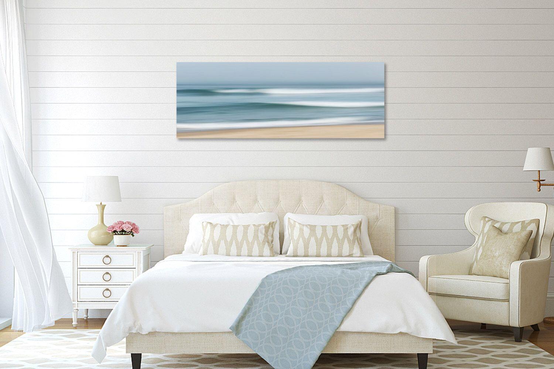 Large abstract beach canvas wall art ocean seascape photography