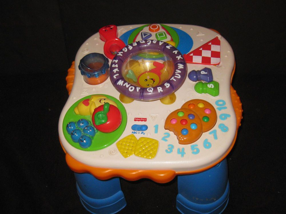 Fisher price laugh learn alphabet soup musical activity table baby toy great toys for babies - Table activite fisher price ...