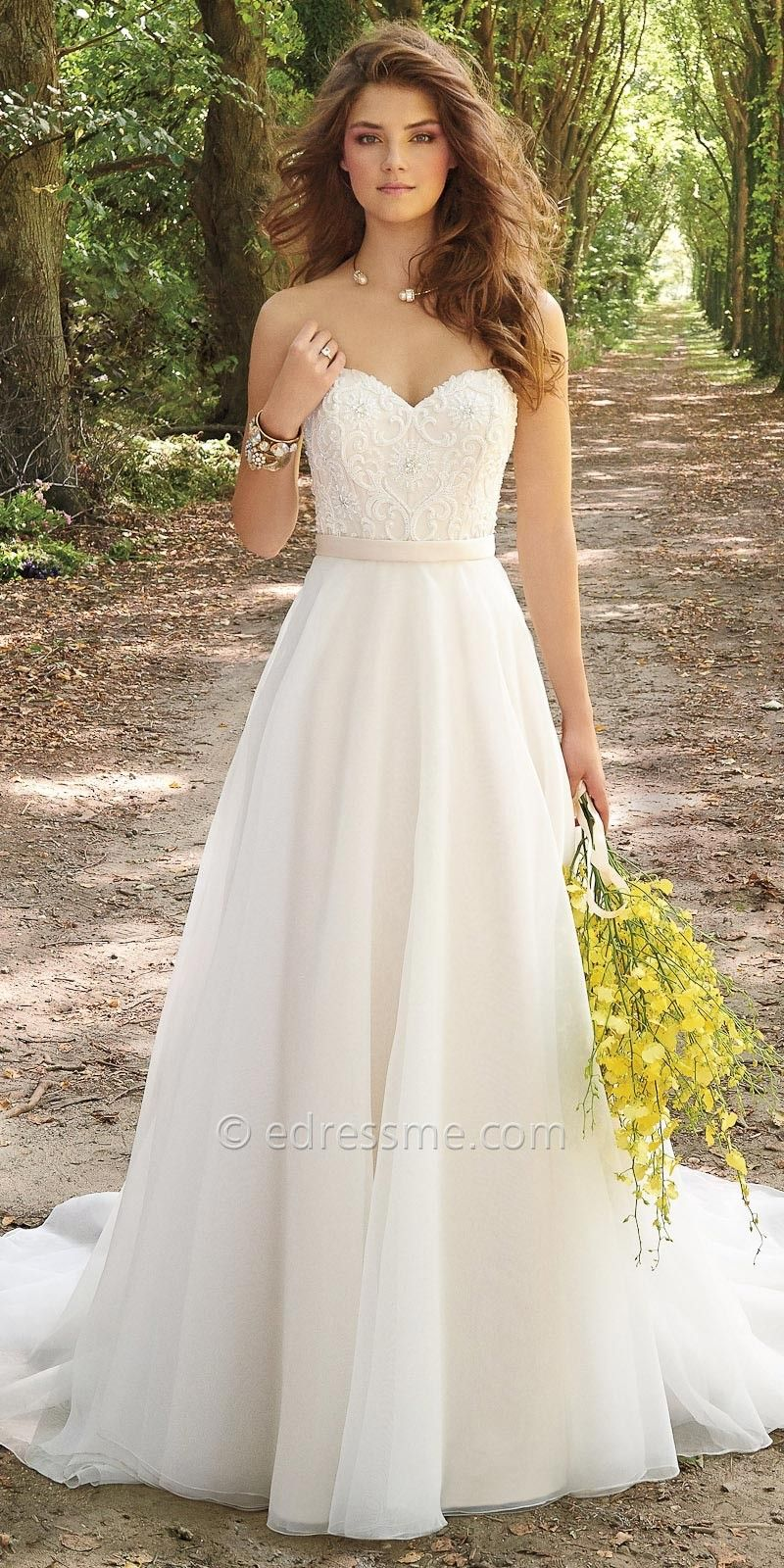 Corset organza wedding dress by camille la vie strapless for Camille la vie wedding dresses