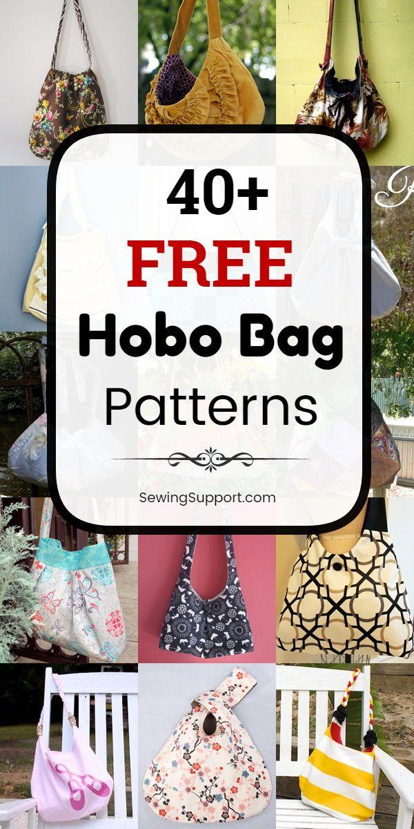 40+ Free Hobo Bag Patterns #bagpatterns