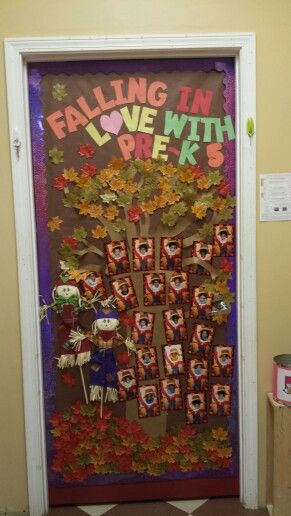 My Fall classroom door, prek, kindergarten, autumn, fall