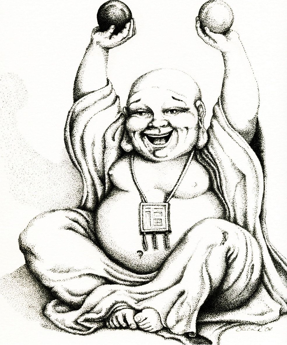 fat buddah coloring pages - photo#38