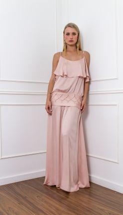 VESTIDO LONGO BABADO - VE29048-57   Skazi, Moda feminina, roupa casual, vestidos, saias, mulher moderna
