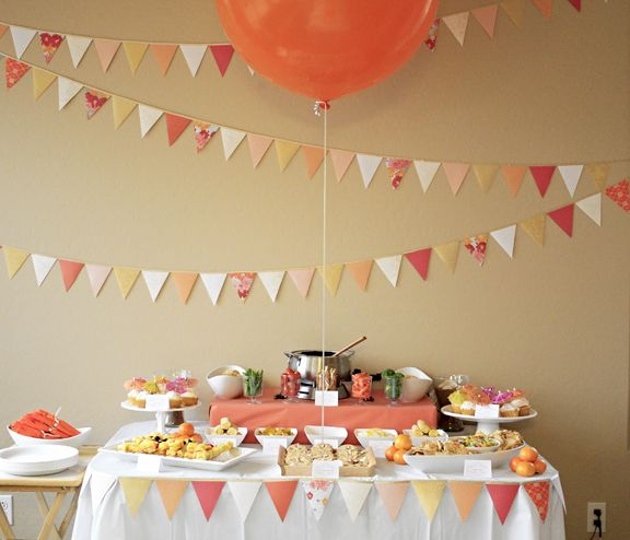 Perfect Diy Bridal Shower That Big Orange Balloon Yum