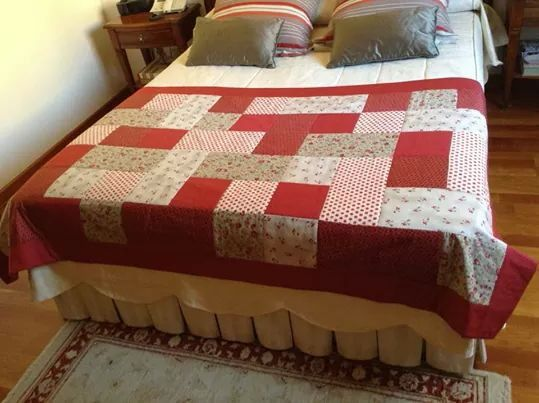 Cubre pies pie de cama y varios pinterest patchwork for Cubrepies de cama