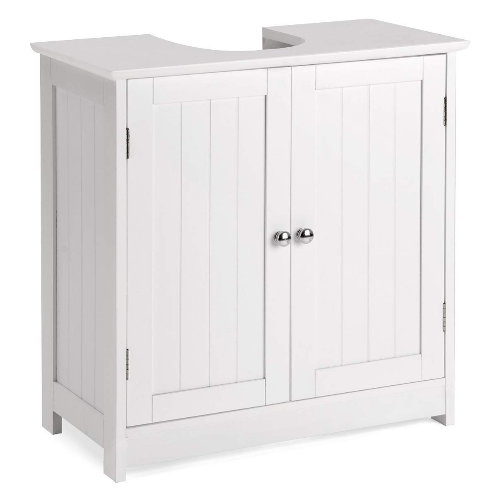 Christow Under Sink Bathroom Cabinet, White Wooden Basin