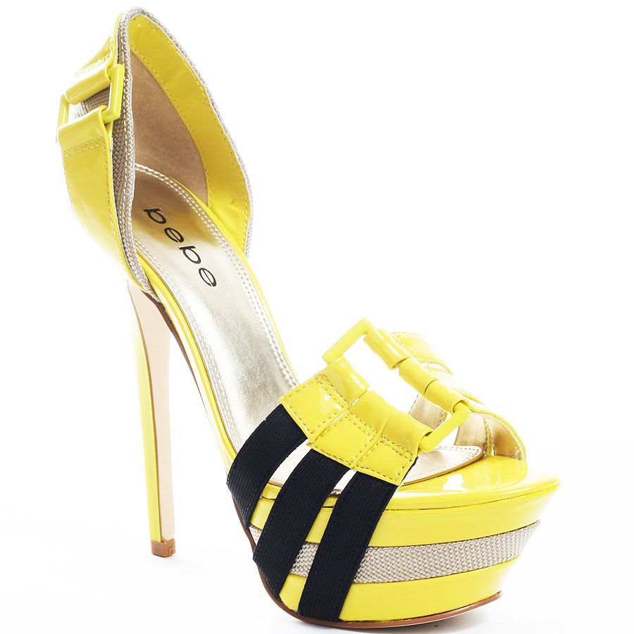 8bb6195e56b Bebe's Yellow Belinda - Yellow for 149.99 direct from heels | Shoes ...