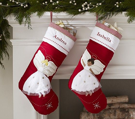 Angel Quilted Stocking | Pottery Barn Kids $23 For Evie | GIFTS ... : pottery barn kids quilted stocking - Adamdwight.com