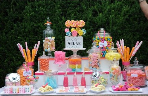 30 Candy Party Theme Ideas - Sugar Dessert Table - mazelmoments ...