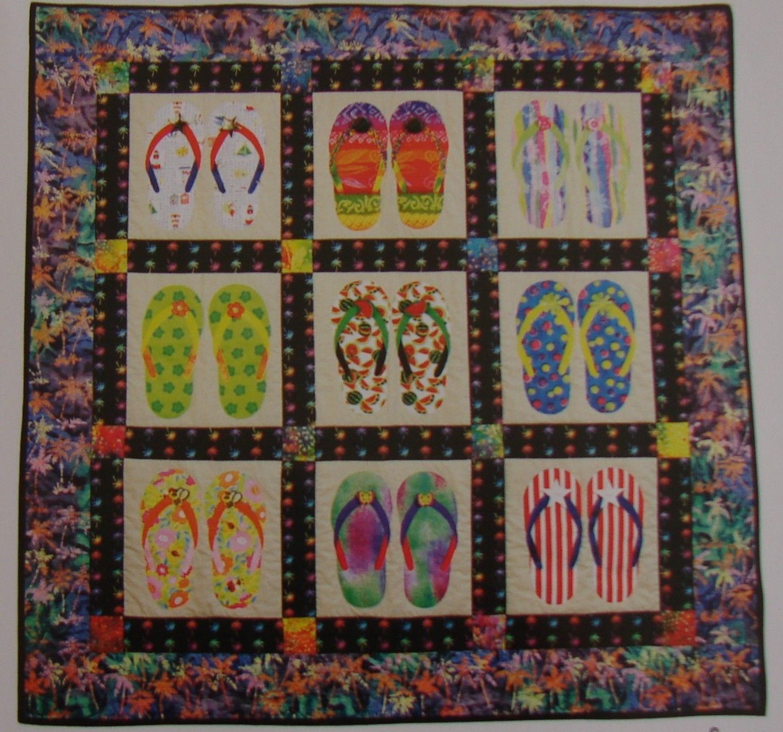 Slippah S Flip Flop Quilt Pattern Quilt Designs And