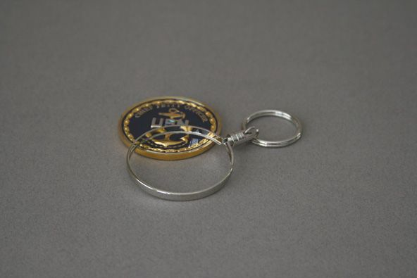 COIN HOLDER KEY RING- 45 MM ITEM # CC-455 | Challenge Coin
