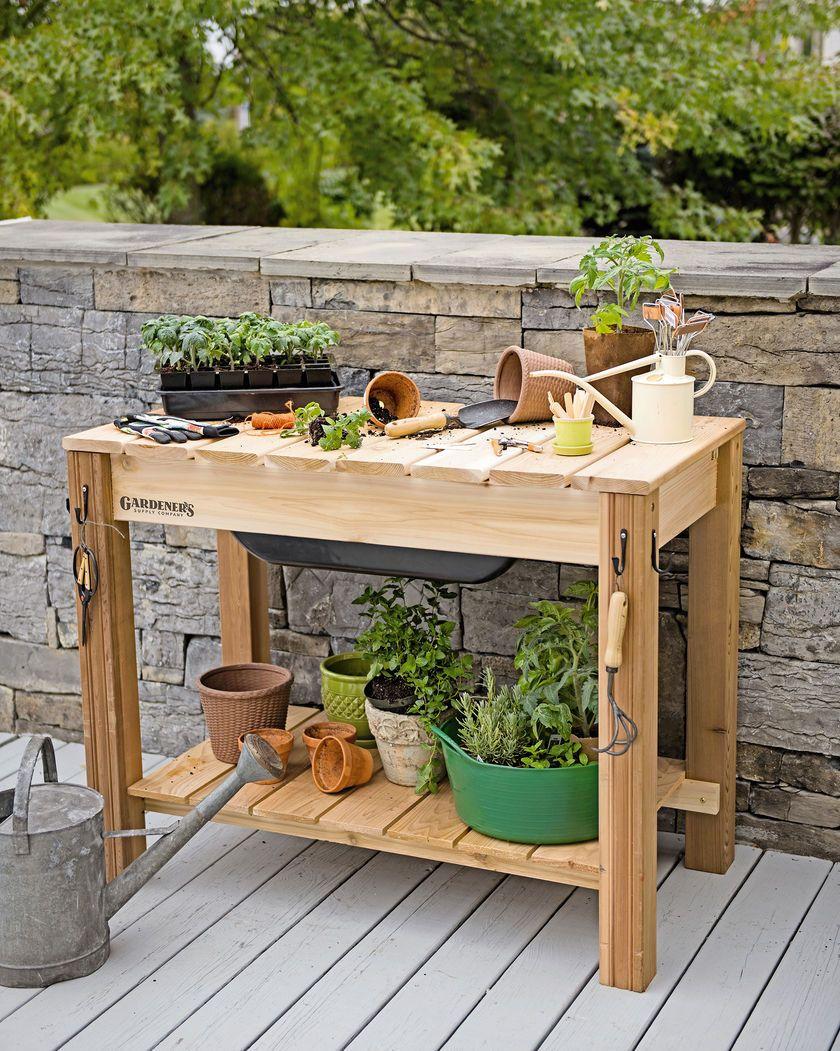 Gardener S Potting Bench Garden Benches Potting Tables