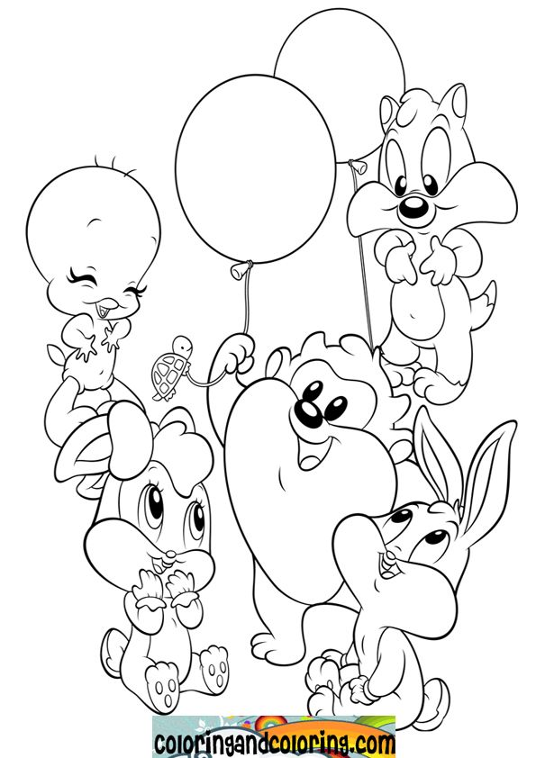 baby looney tunes coloring pages bing images