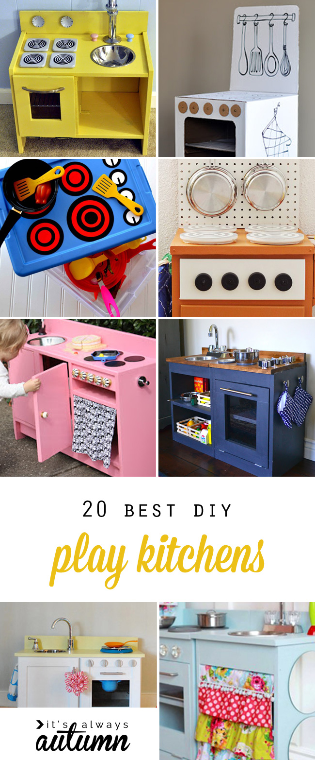 20 coolest DIY play kitchen tutorials Kids play kitchen