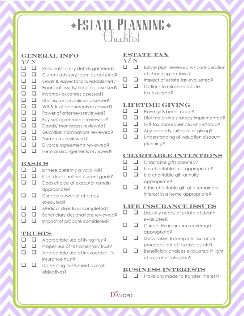 estate planning checklist personal finance 101 pinterest