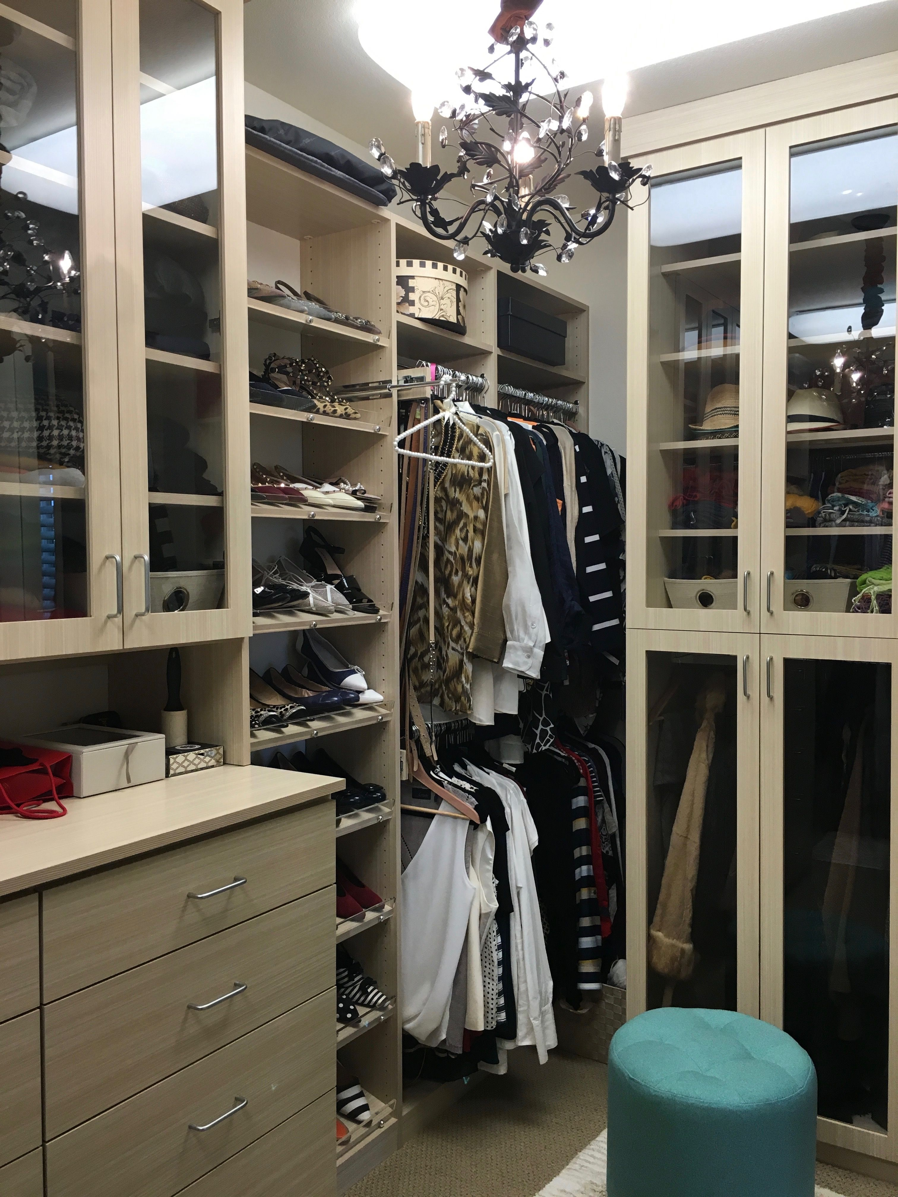 Custom Walk In Closet In Textured Wood Look American Made Melamine. Napa  California By RC Cabinets U0026 Closets Of Cotati And Sonoma County.