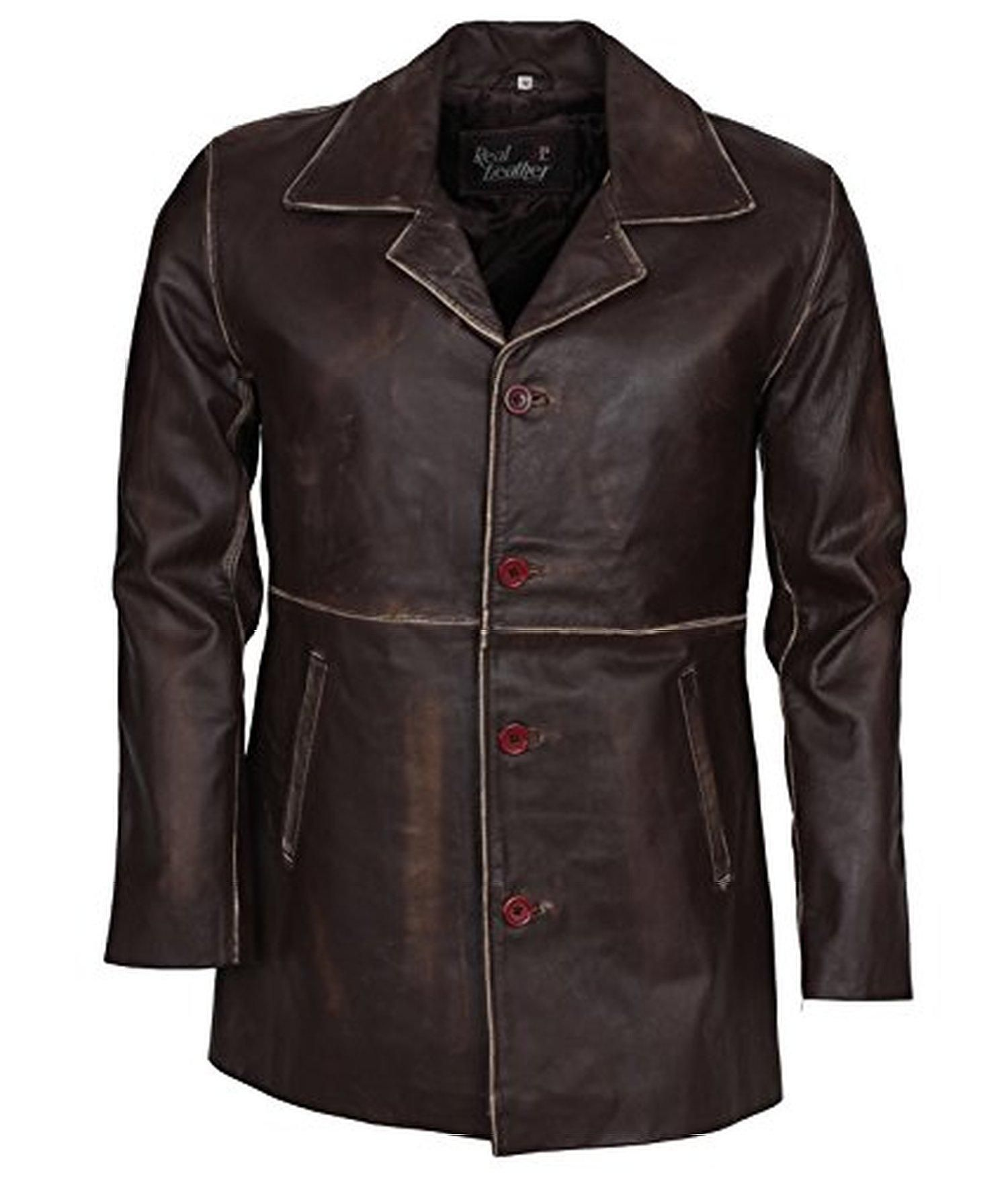 Slimfitleatherjackets Front Button Closure Supernatural Dean Winchester Brown Distressed Italian Leather Coat For Men S 4x Large Celebrities Leather Jacket Mens Leather Coats Best Leather Jackets [ 1752 x 1500 Pixel ]