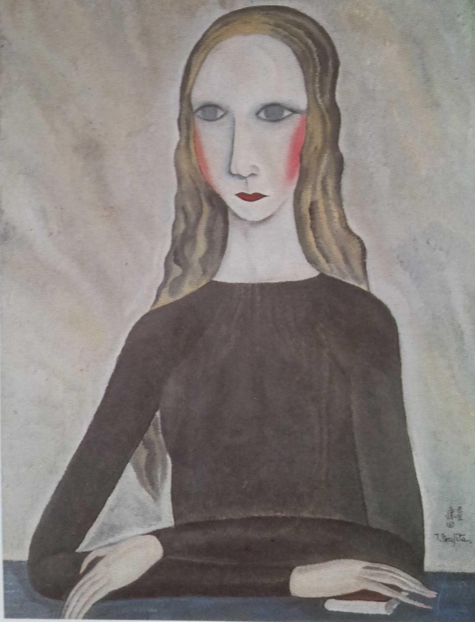1917 env. jeune femme blonde au corsage noir Huile 61 x 46 cm Collection particulière