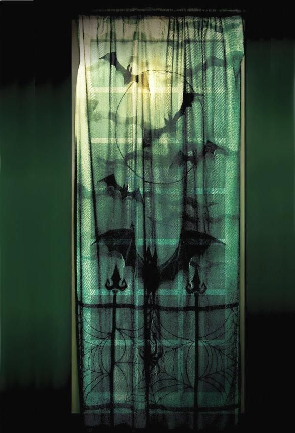 Window Curtain - Lace Decor Panel for sale by Halloween FX Props at