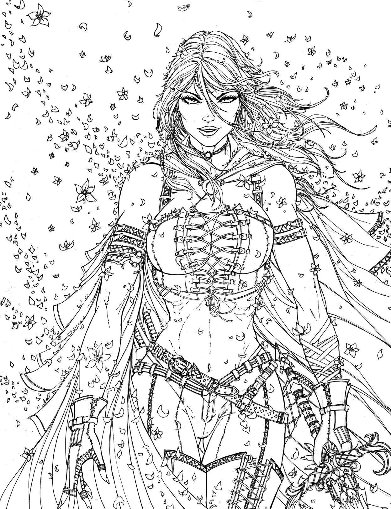 Sexy Adult Coloring Pages