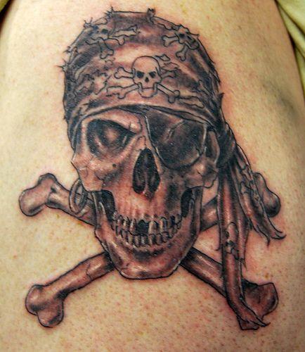 Skull And Crossbones Tattoo Evil Skull Tattoo Pirate Skull Tattoos Pirate Skull And Crossbones Tattoo