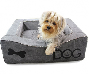 Dream Of Bones Plush Grey Dog Beds This Structured Dog Box Bed And Pillow Are Covered In Super Soft Plush M Dog Beds For Small Dogs Dog Bed Designer Dog Beds