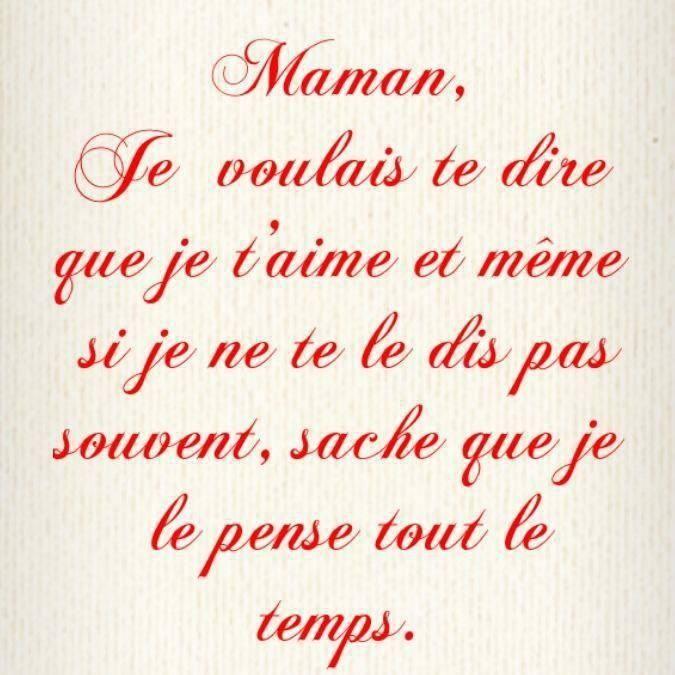 Pour Toi Maman Je Pense à Toi Je Taime Maman Et