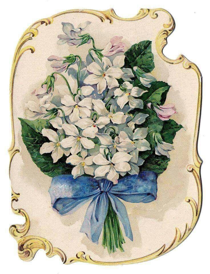 Старинные открытки красивых цветов