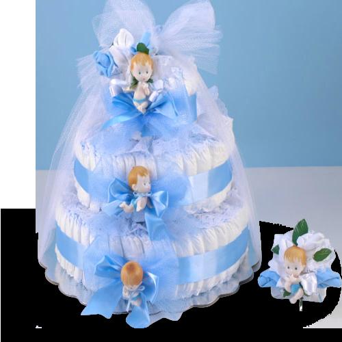 2cc47fe986b5 Delightful Baby Boy Diaper Cake Gift Set Price   85.00 ...
