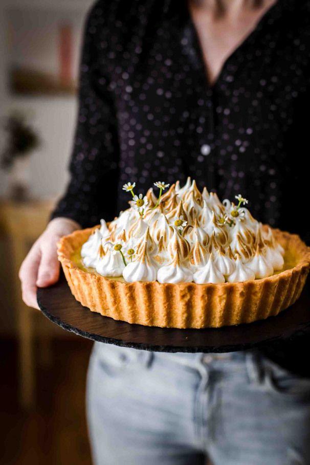 That Lemon Meringue Tart is super creamy tangy and sweet. Lemon Meringue Tart Recipe by Also The Crumbs Please tart