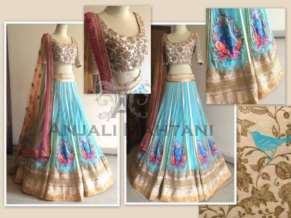 e7e3ae5b87 Anjali mahtani   Latest Fashion Trends   Indian bridal lehenga ...