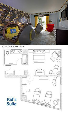 Despicable Me Kids Suites Found At Loews Portofino Bay Hotel At Universal  Orlando