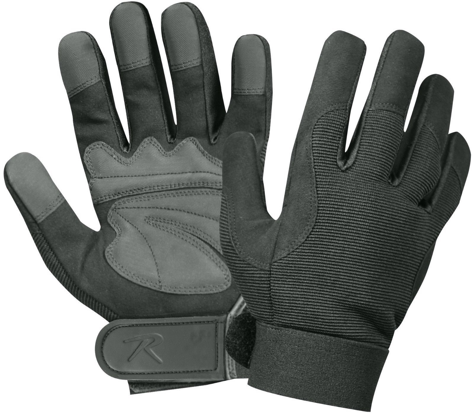 military mechanics glove black grey bikers sports everyday